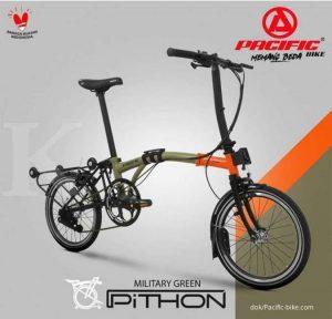 Desain Sepeda Lipat Pacific Pithon Mirip Bronpton.