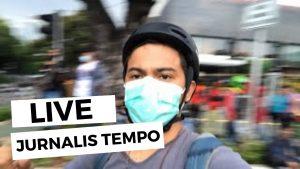 Teriakan Copet ditengah Massa Demo Omnibus Law di Kawasan Medan Merdeka Monas   LIVE JURNALIS TEMPO